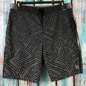Hurley Mens Crosswinds Board Shorts Gray Geometric